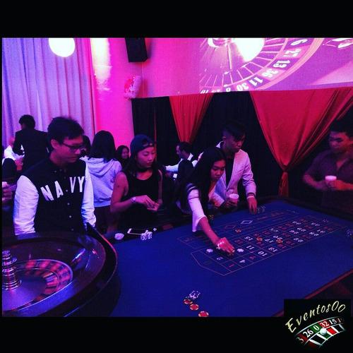 alquiler casino mesas poker ruleta black jack(crupiers)