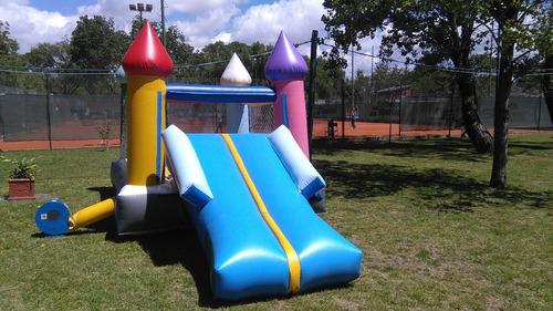 alquiler castillo inflable c/tobogán, metegol, mini fútbol.
