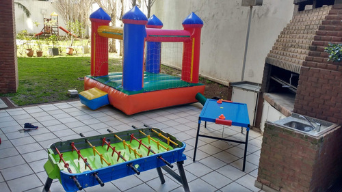 alquiler castillo inflable - metegol- tejo - plaza - cama