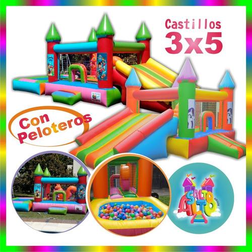 alquiler castillos inflable zona oeste cama elástica metegol
