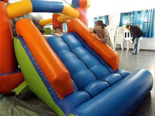 alquiler castillos inflables con tobogán, +cama+algodón.