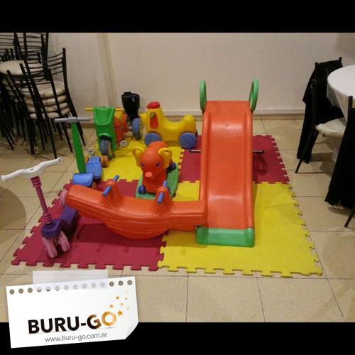 alquiler castillos inflables, metegol, tejo, plaza blanda