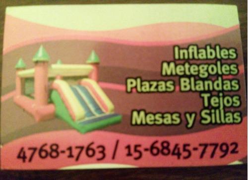 alquiler castillos inflables plaza blanda metegol tejo