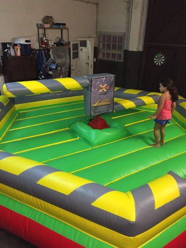 alquiler castillos inflables-toro mecanico - pool - zona sur