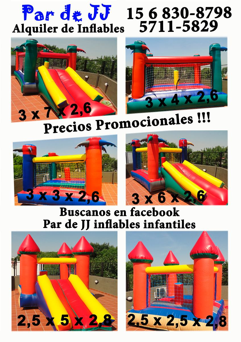 Alquiler Castillos Inflables Juegos De Living Y Metegoles