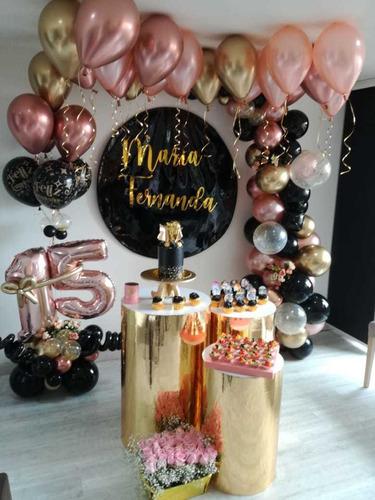 alquiler cilindros decoracion fiestas quinceaños numero 15