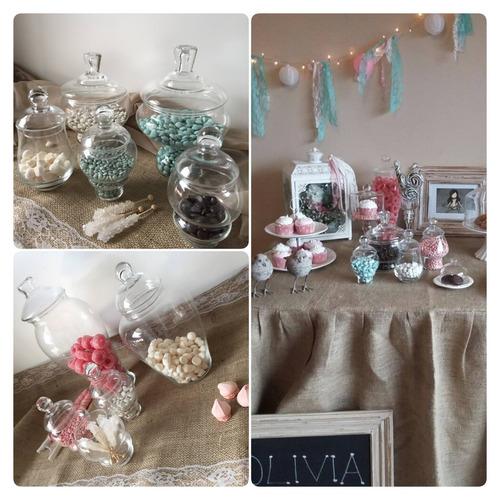 alquiler combo mesa dulces candy bar tea party ambientación