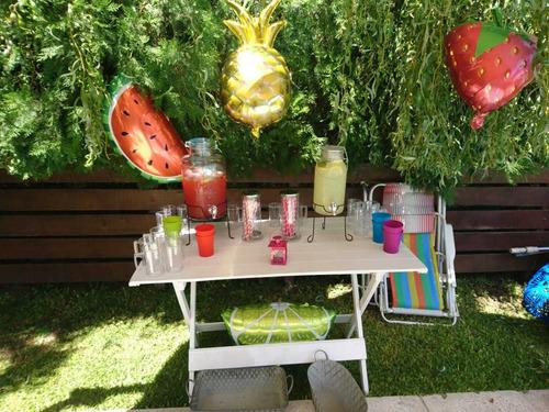 alquiler combo p/ mesa dulce, candy bar,tea party& pijamadas