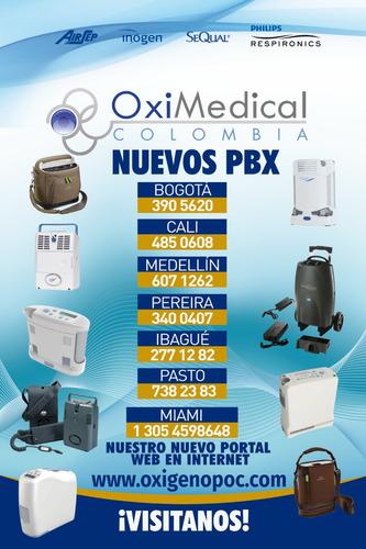 alquiler concentrador portatil avianca oximedical medellin