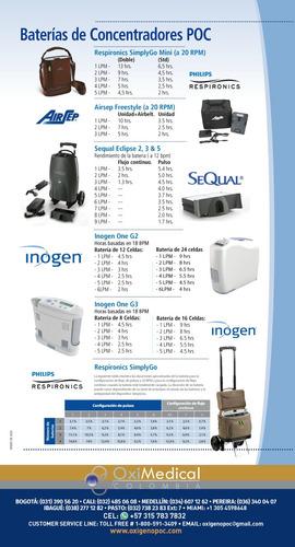 alquiler concentrador portatil oxigeno american oximedical