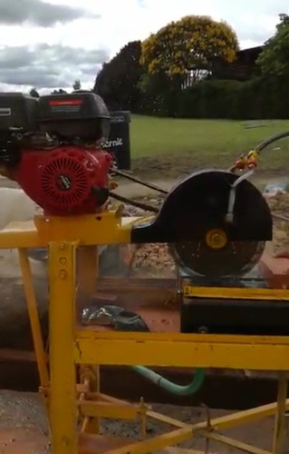 alquiler cortadora ladrillo motor gasolina