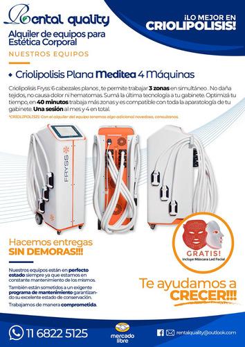 alquiler criolipolisis plana meditea 6 cabezales