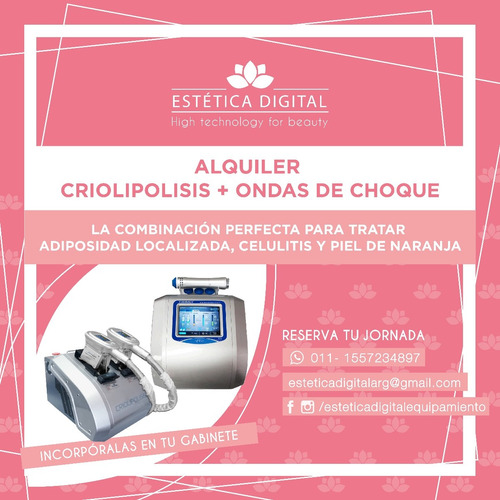 alquiler criolipolisis sveltya doble cabezal, nuevo 2018!!