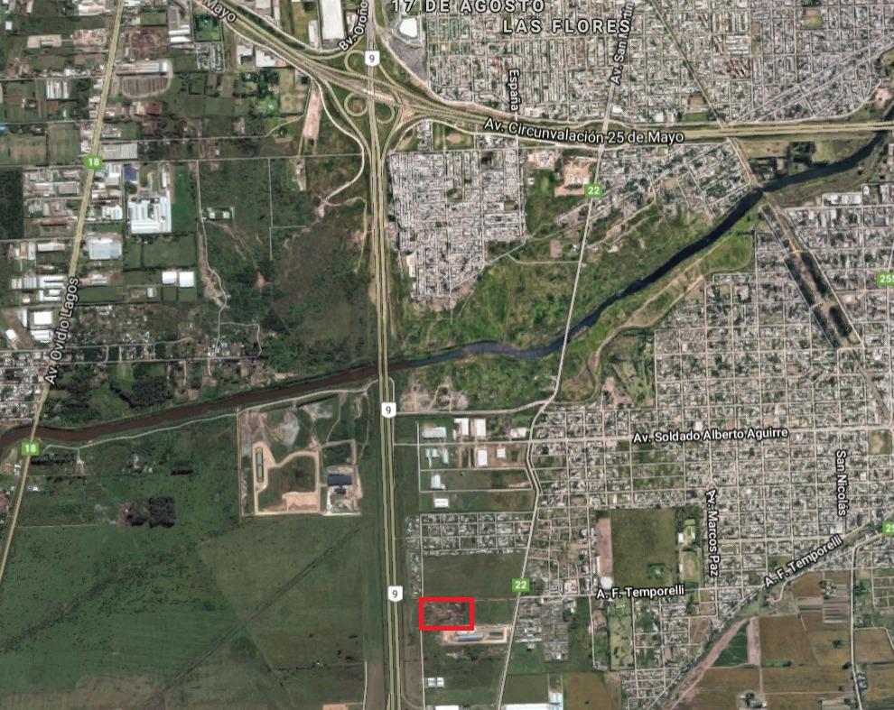 alquiler de 3 hectareas zona industrial.
