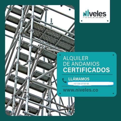alquiler de andamios certificados y manlift multidirecional
