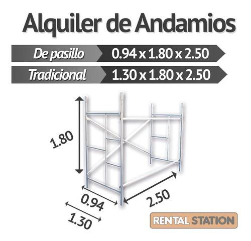 alquiler de andamios tubulares reforzados - rental station