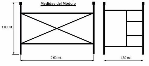 alquiler de andamios tubulares tablones hormigonera lanus