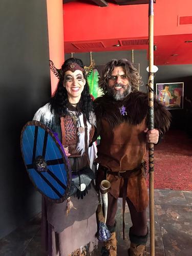 alquiler de atavíos hombre & mujer medieval viking o fantast