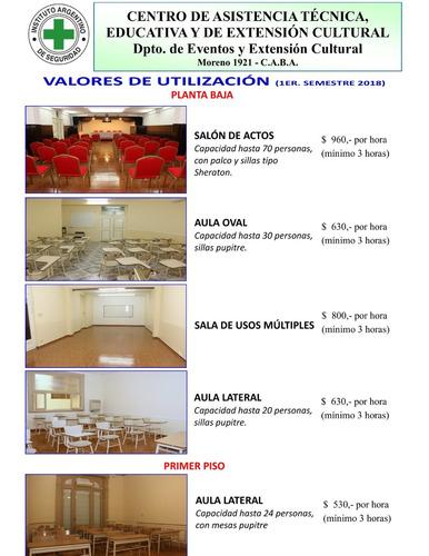 alquiler de aulas / salones múltiples usos / salas