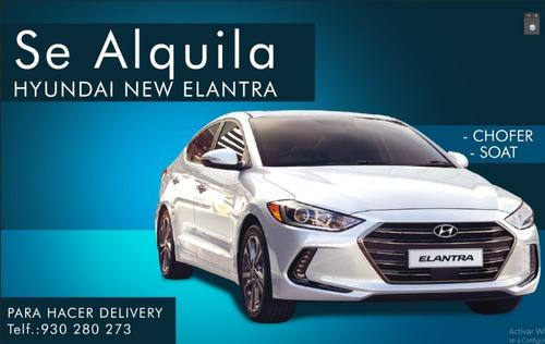 alquiler de auto para uso particular o delivery