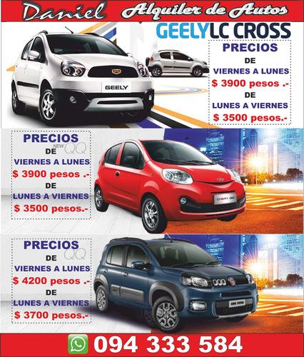 alquiler de autos 094 333 584 promociones entrega domicilio