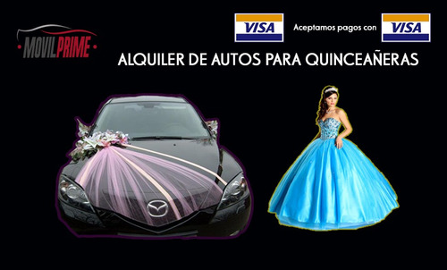 alquiler de autos para matrimonios, quinceañeros, eventos