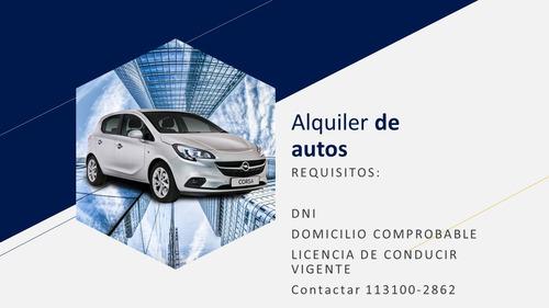 alquiler de autos particular comercial aplicaciones a cargo