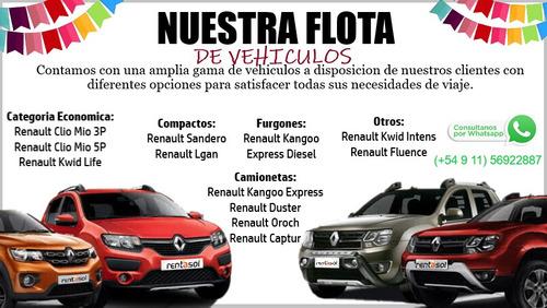 alquiler de autos - rent a car -  precio imbatible - promos
