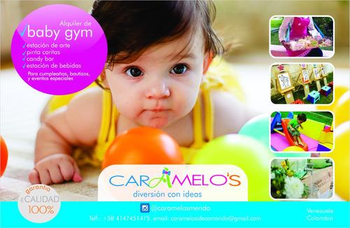 alquiler de baby gym, estacion pintura, recreación, inflable
