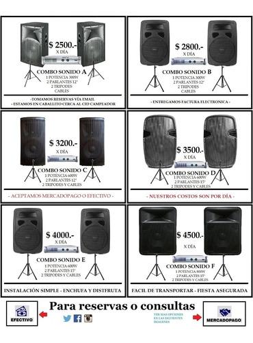 alquiler de bafles activo luz neón micrófono consola karaoke