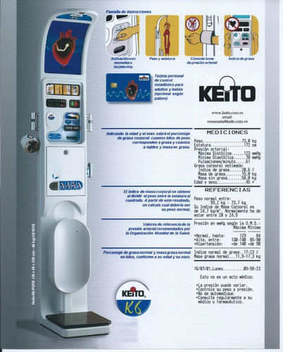 alquiler de balanzas multifuncion keito k6
