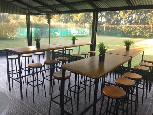 alquiler de  banquetas/taburetes /mesas para eventos
