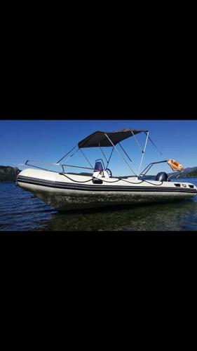 alquiler de bote semirrígido 5,60 mts. 75hp 4t