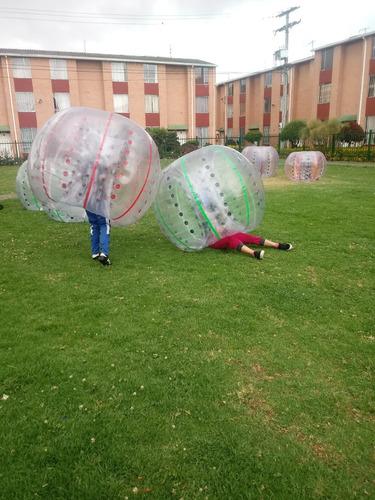 alquiler de bumper ball - esferas choconas