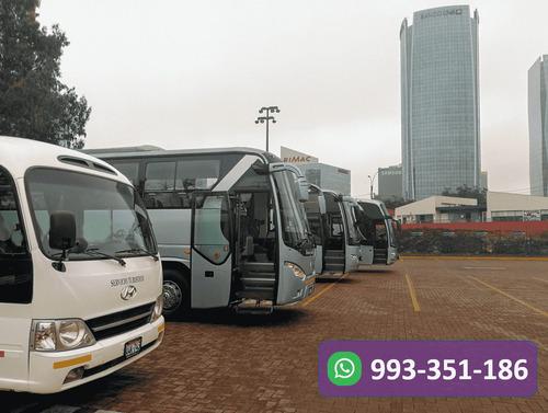 alquiler de bus minibus  y vans  transporte turistico