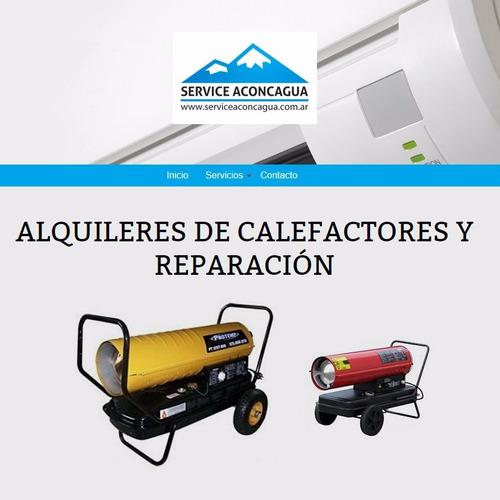 alquiler de calefactores cañon diesel y reparacion