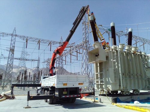 alquiler de camiones gruas nuevos para obras civiles electri