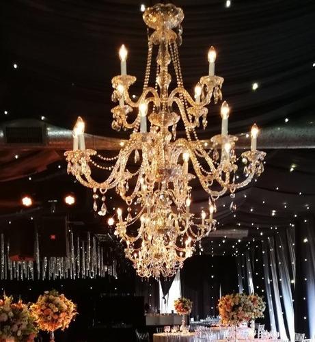 alquiler de candelabros y arañas de cristal para eventos