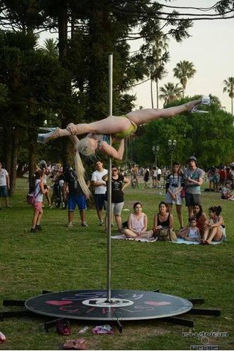 alquiler de caño - tipo tarima - para poledance