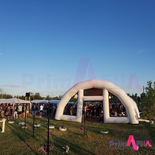 alquiler de carpa inflable casamiento 100, 120, 140 personas