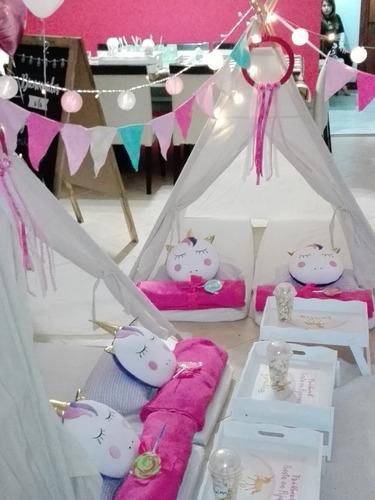 alquiler de carpa teepee - pijama party