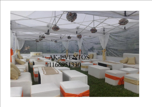 alquiler de carpas gazebos mesas sillas livings pisos