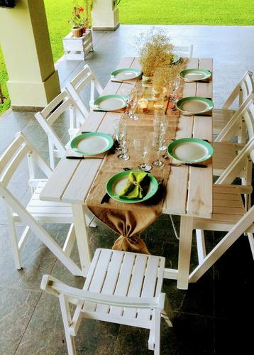 alquiler de carpas, livings, gazebos, sillas tijera blancas