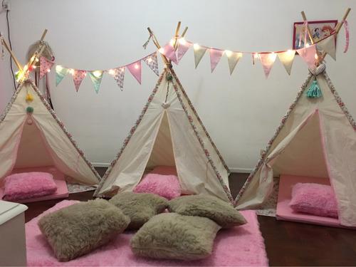 alquiler de carpitas tipi para pijama party, cumpleaños
