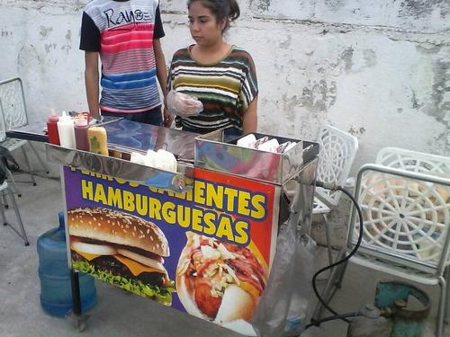 alquiler de carrito de perros calientes para fiestas