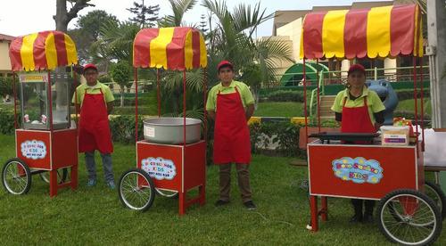 alquiler de carritos snacks: algodòn,pop corn, 997021638