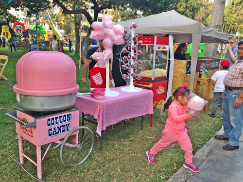 alquiler de carritos snacks : pop corn, algodónes, 964367355