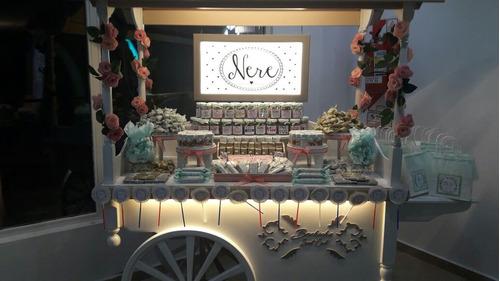 alquiler de carro y candy bar para eventos