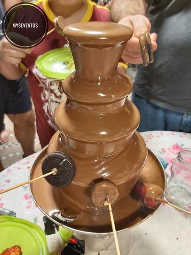 alquiler de cascada de chocolate