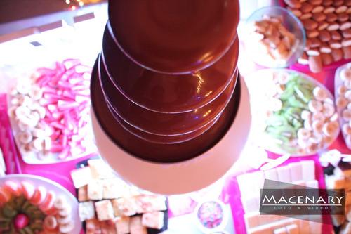alquiler de cascada de chocolate zona oeste
